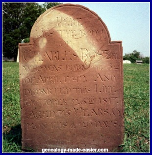 Old gravestone in an Ontario cemetery