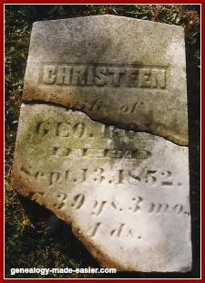 Old 1852 gravestone