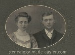 A young couple in 1900