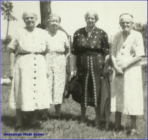 Four Widowed Sisters in 1940