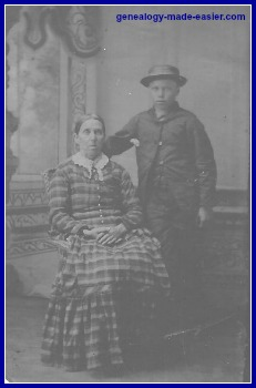 Couple in old tintype photo