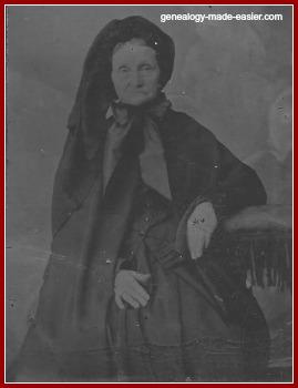 Old tintype portrait